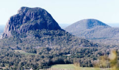 Winding roads afford spectacular views of the Glass House Mountains, just north of Brisbane (photo: Elise Hassey).