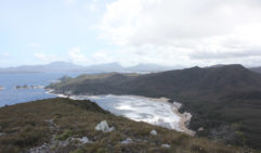 A view of Tasmania's Toogelow Beach from Mt Milner.
