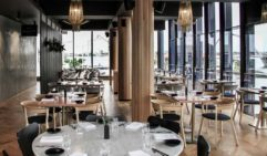Sleek and shiny interior of Perth restaurant, The Reverly.
