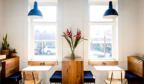 The Trentham Collective cafe's large Victorian windows make for a bright and airy space (photo: Katie Wilton for Smudge Eats).