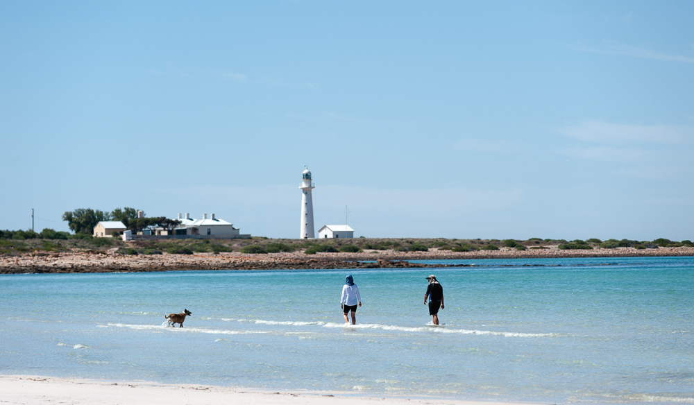 Point Lowly Lighthouse on a stunning clear day in Whyalla