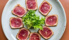 Beautifully presented tuna dish by Raw Bar Japanese in Bondi.