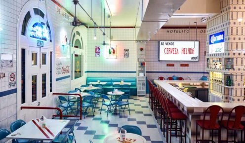 Melbourne design firm, Mash, has lovingly recreated a Mexico City taquería within Hotel Jesus (photo: Tomas Friml).