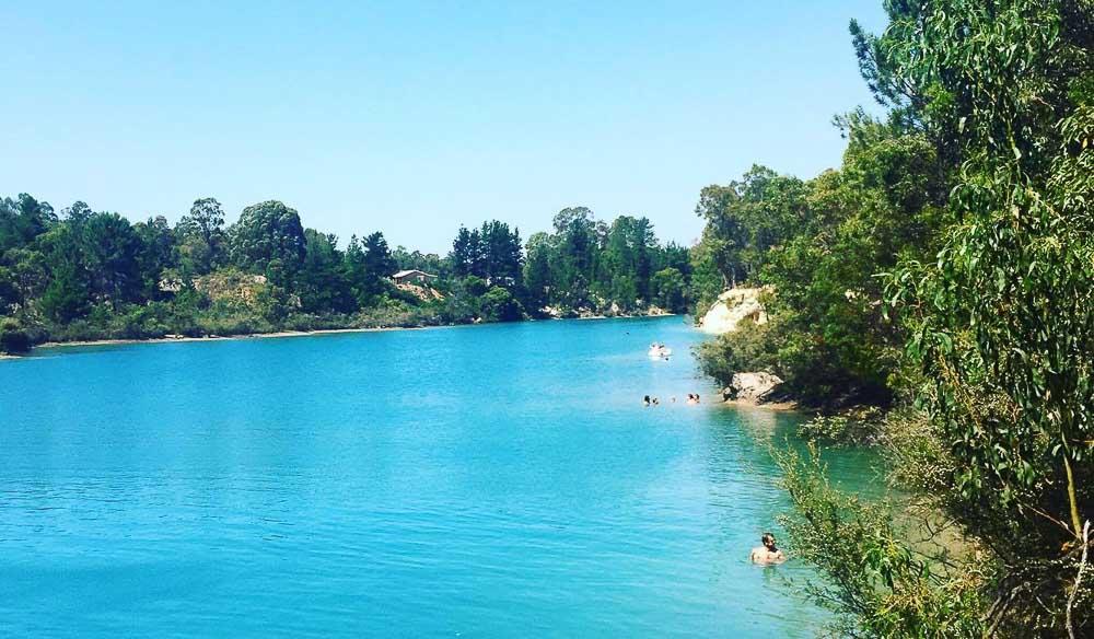 Black Diamond Lake swimming spot Collie