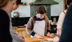 Tamsin of Tamsin's Table teaches guests how to make fresh pasta. South Gippsland (photo: Brenner Lowe).
