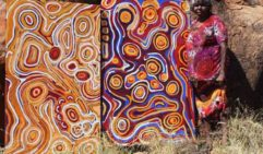 Joanne Tjili Wintjin paints the stories of Mimili (photo: Tjatu Gallery).