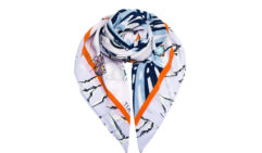Sydney-based Titan Studios makes digitally-printed silk scarves.