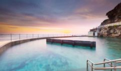 Beautiful sunrise over Bronte Baths, a favourite of Dr Chris Brown.