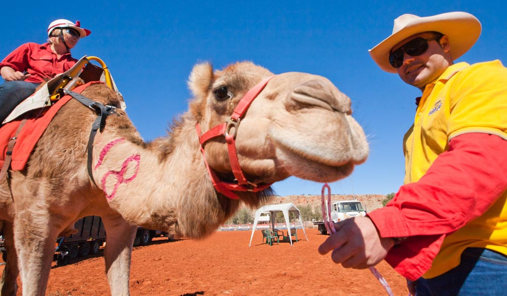 The Camel Cup draws thousands of spectators to Alice Springs.