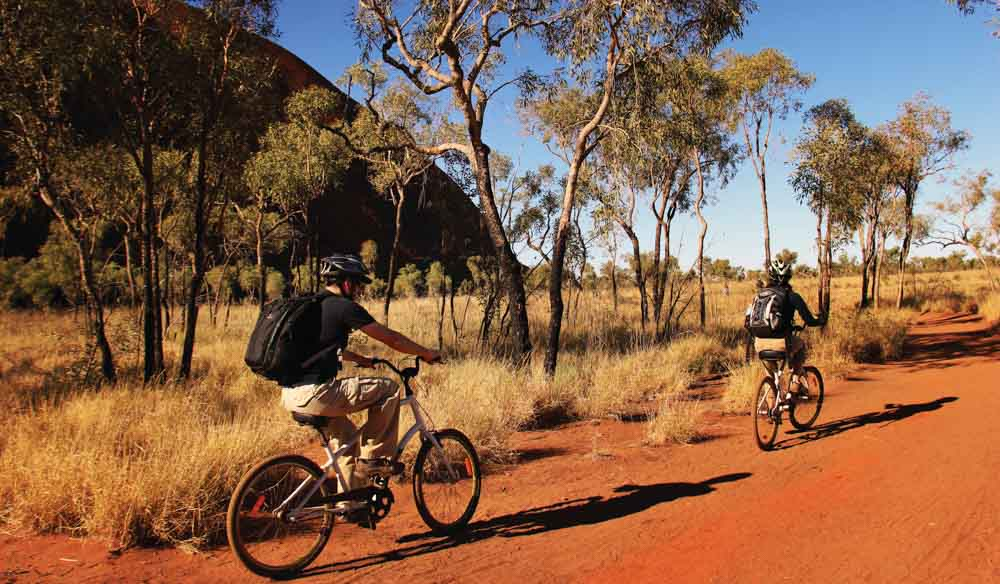 Cycling around Uluru, NT