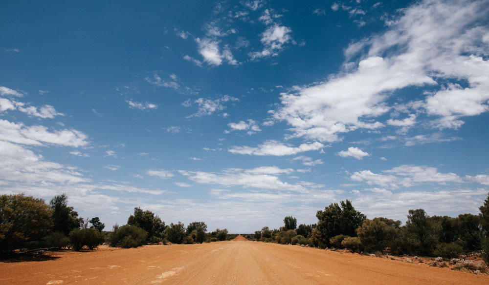Starting out on a road trip through WA's Golden Outback; the road stretches out into the horizon (photo: Elise Hassey).