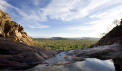 Unwind and enjoy the stunning views in this natural swimming hole in Kakadu National Park.