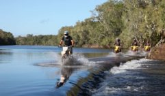 Crossing Normanby River while keeping a lookout for crocs (photo: Steve Madgwick).