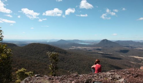 Looking out at the Fassifern Valley from Governor's Chair Lookout (photo: Lara Down).