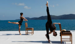 Ballerinas rehearse with the beautiful Whitsundays as a backdrop (photo: Julian Kingma).