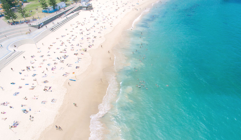 Ariel view of Coogee beach