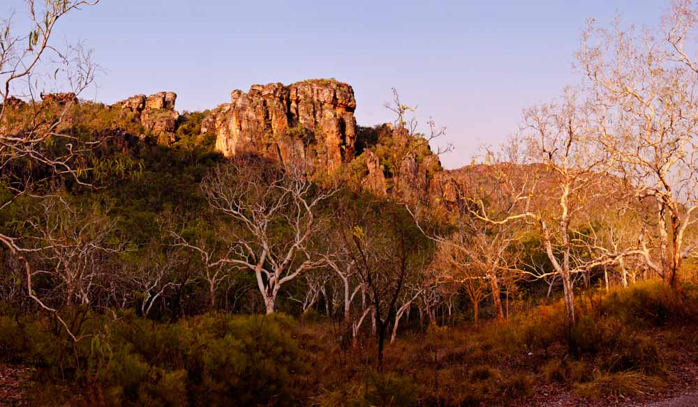 A rosy sunset lights up  Burrunggui. See it at Kakadu National Park, NT.