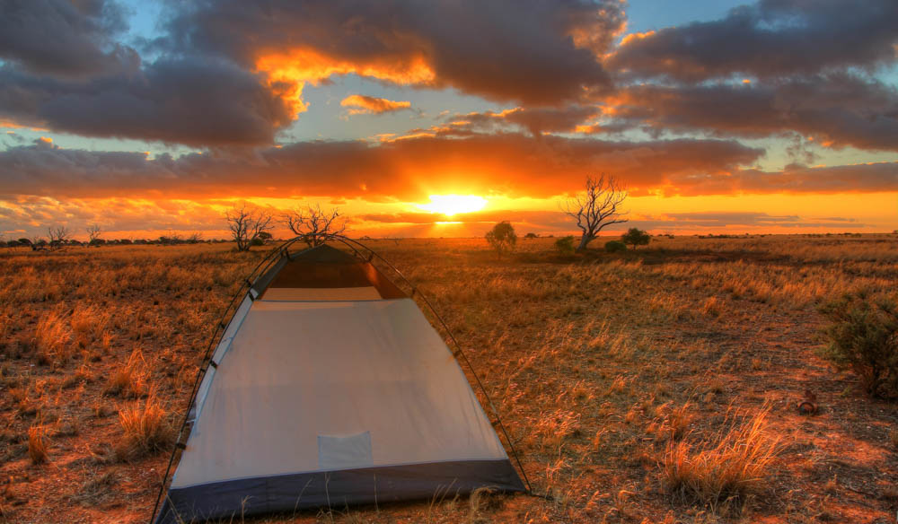 Who wouldn't want to see this view from their tent? Devils Marbles Conservation Reserve, NT.