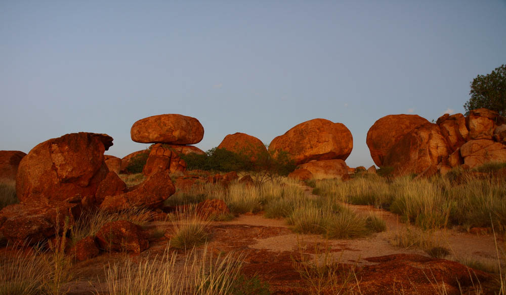 Sunset on the Devils Marbles
