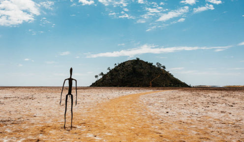 Antony Gormley's surreal Inside Australia, Lake Ballard, WA (photo: Elise Hassey).
