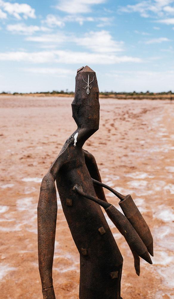 Inside Australia sculptures Lake Ballard