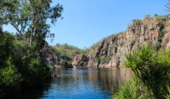 Leliyn (Edith Falls) makes for a refreshing Kakadu dip (photo: Megan Arkinstall).