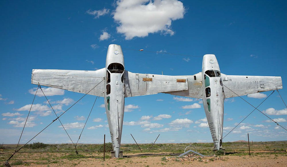 Plane-henge Mutonia Sculpture Park, Oodnadatta Track