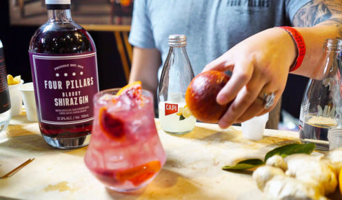 Bloody Shiraz Gin - what you get when you cross Yarra Valley grapes with Four Pillars Gin  (photo: Denver Cramer).