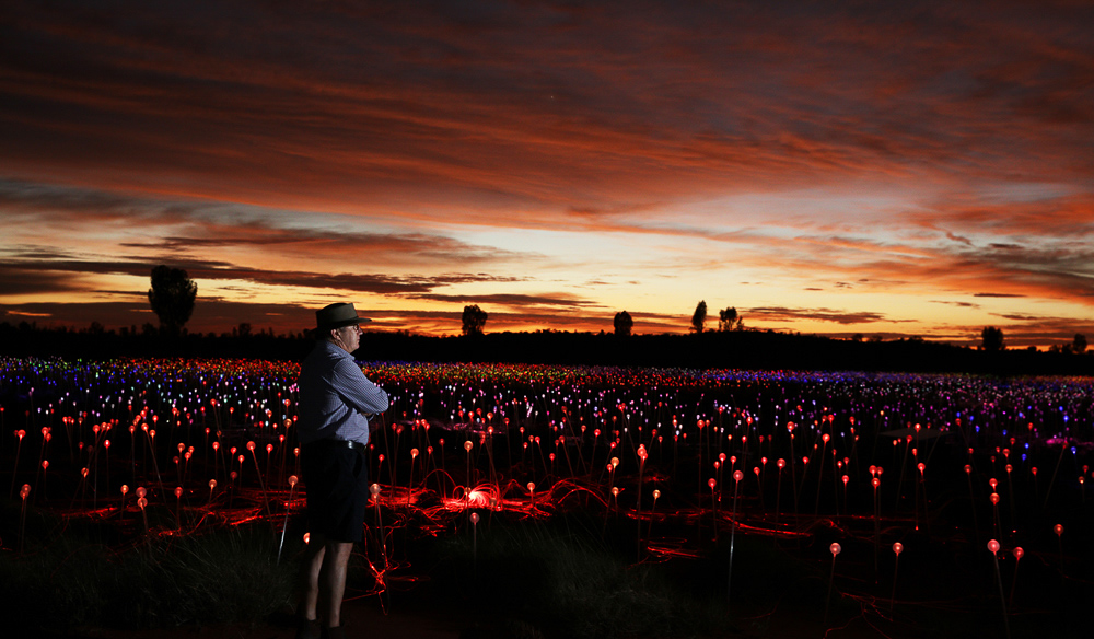 An unmissable exhibit and a unique experience go to Field of Light at Uluru