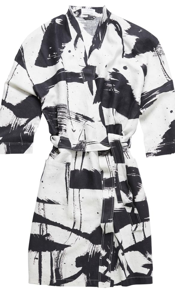 An artful collaboration between Art Series Hotel The Johnson and Masini & Chern, to create stunning robes for both male and females.