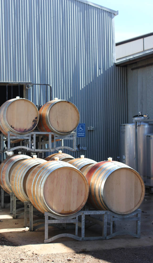 Barrels full of De Salis wines, Orange, New South Wales (photo: Lara Picone).