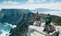 Walkers admiring view from The Blade (photo: Tasmania Parks and Wildlife Service)