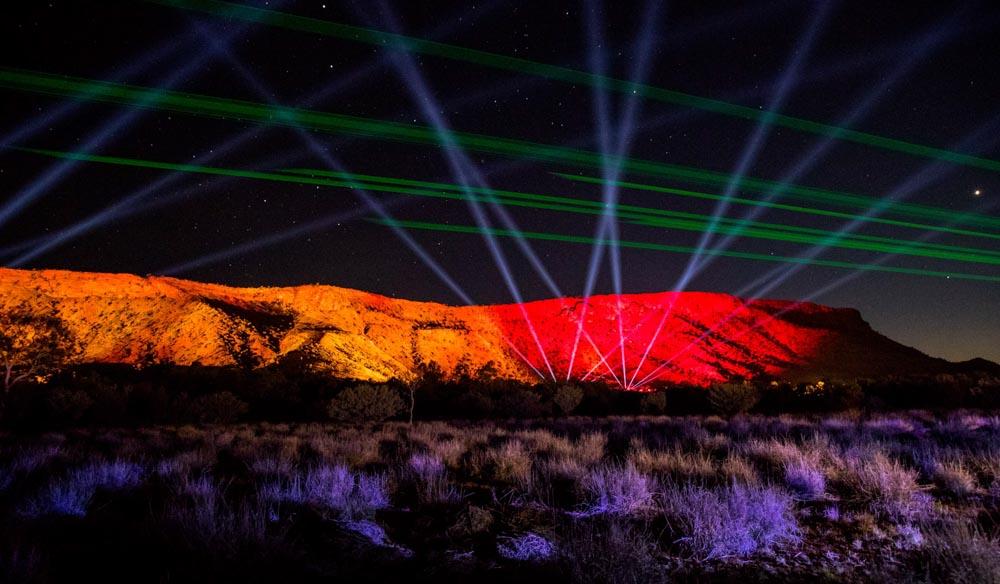 Parrtjima light festival Alice Springs