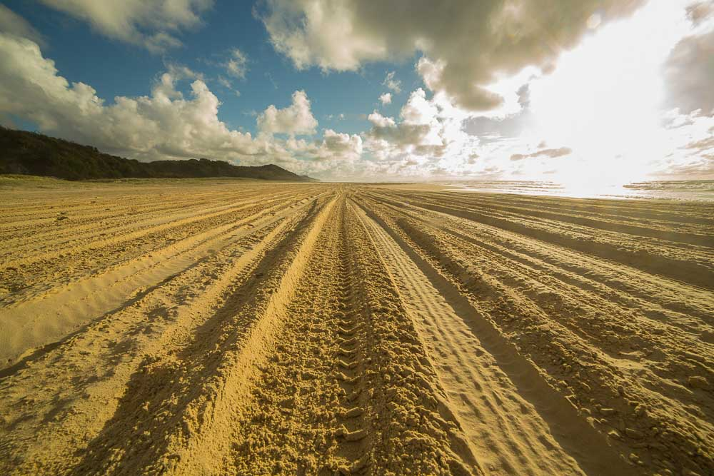Four wheel drive tracks Fraser Island