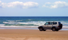 Get down (and stay down) on that hard sand when driving on Fraser Island.