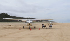 Fraser Island is a sand highway and runway (photo: Leigh Counsell).