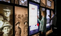 The National Anzac Centre, on arrival you are assigned one of 32 photographs and follow the poignant story of a real life soldier or nurse through the exhibition.