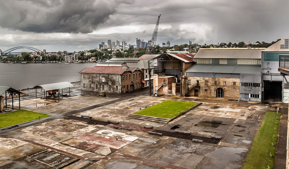 Cockatoo Island shipyards Sydney Harbour