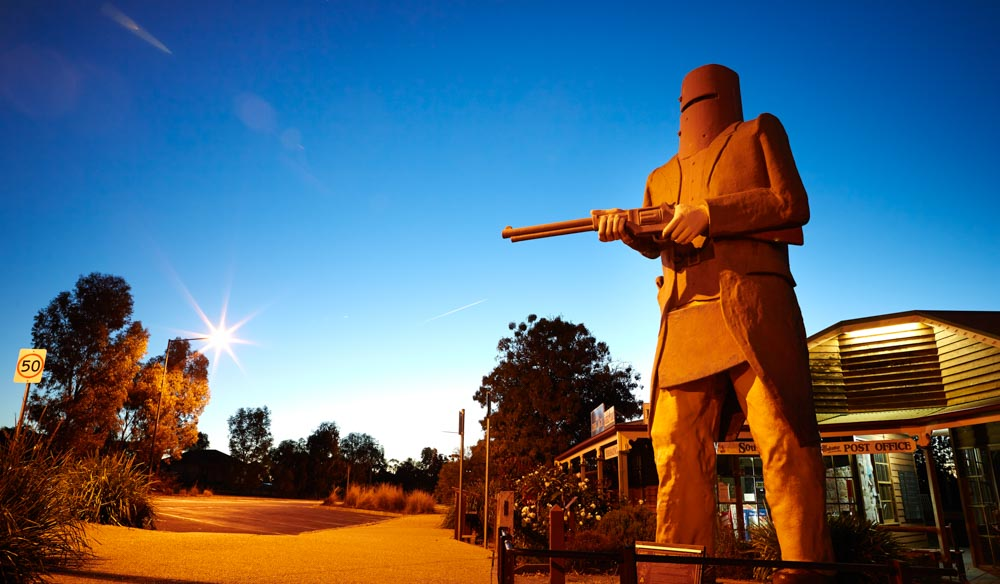 Explore more of the infamous outlaw, Ned Kelly in Glenrowan.