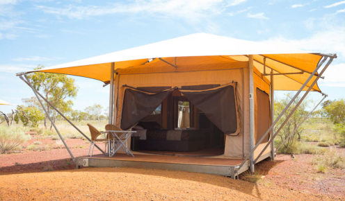 Pilbara palace: a deluxe eco tent with ensuite, Karijini Eco Retreat (photo: Jonathan Cami).