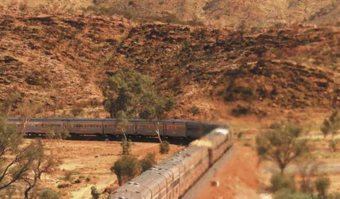 One of the greatest train journey's to take in the world, The Ghan.