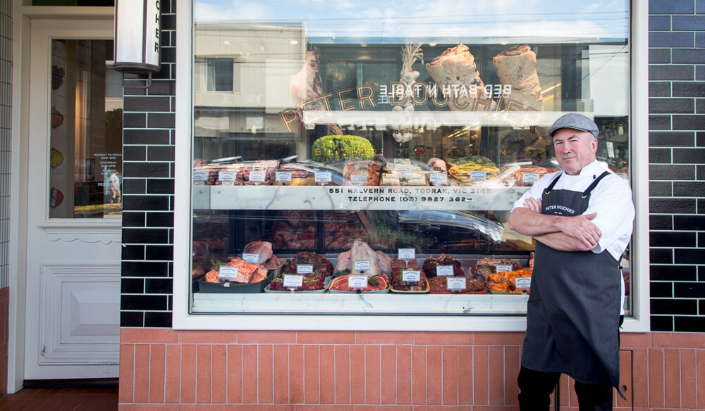 Peter Bouchier butcher shop Toorak Melbourne