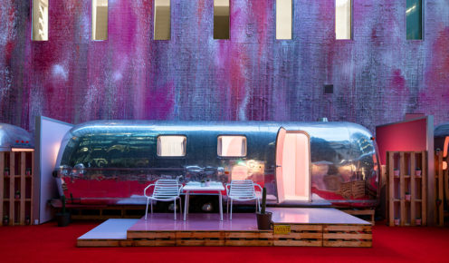 Ash Keating's mural adds Insta-cred to the Notel experience (photo: Andrew Curtis).