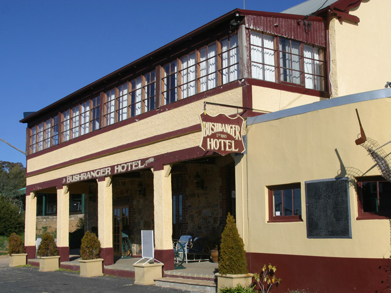 The Bushranger Hotel, previously known as the Kimberley Hotel.
