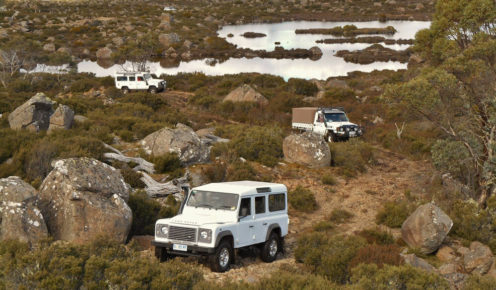 4WDs tackle the tough terrain of the Central Highlands (photo: Chris Crerar).