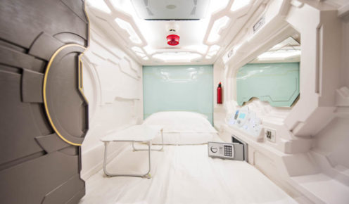 Bigger than you think -  or maybe not... a single pod, The Capsule Hotel, Sydney.