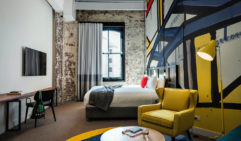 Ovolo 1888 Darling Harbour has room categories from the cheeky Shoe Box to the generously proportioned Shaken and Stirred suites.