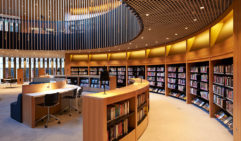 The City of Perth's new redeveloped library is based around a pure circular form, with a straited effect that emulates the pages of a book (photo: City of Perth).