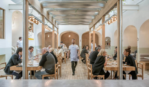Osteria Oggi was transformed from an office space to a light-filled diner (photo: Peter Clarke).