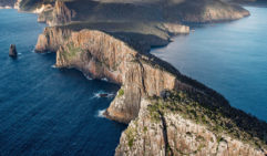 An aerial view of the stunning Cape Hauy (photo: Imogen Eveson).